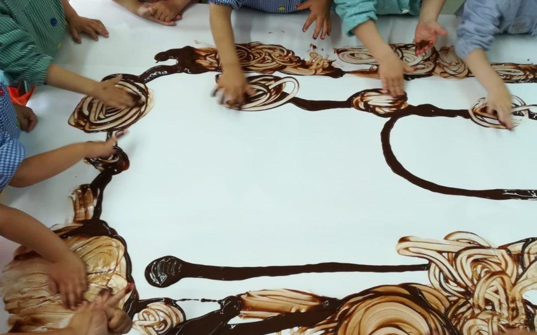 Pintem amb xocolata